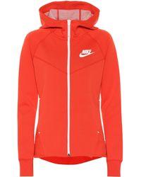 6cb44cd519727 Lyst - Nike Sportswear Tech Fleece Windrunner Sweatshirt in Pink