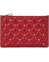 Valentino - Candystud Leather Pouch - Lyst