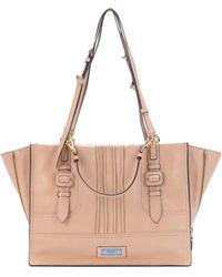 9e9ee45c6f29 Prada Etiquette Leather Shoulder Bag in Black - Lyst