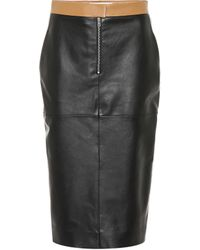 Victoria Beckham - Leather Pencil Skirt - Lyst