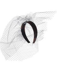 Erdem Embellished Jacquard Headband - Black