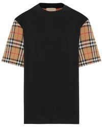 Burberry - T-shirt in cotone - Lyst