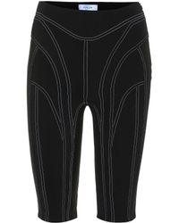 Mugler - High-rise Technical Shorts - Lyst