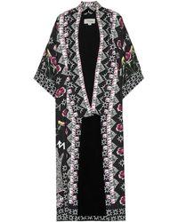 Temperley London - Kimono Flux en seersucker imprimé - Lyst
