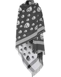 Alexander McQueen   Knitted Wool And Cashmere Shawl   Lyst
