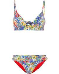 Stella McCartney - Bedruckter Bikini - Lyst
