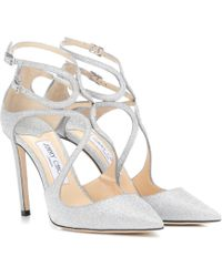 Jimmy Choo Lancer 100 Glitter Court Shoes