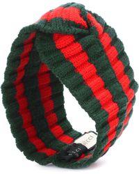 e223c2d7f99 Gucci - Striped Wool-blend Headband - Lyst
