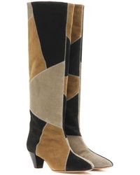 Isabel Marant - Ross Suede Knee-high Boots - Lyst
