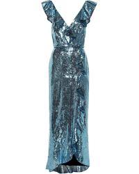Monique Lhuillier - Vestido de lentejuelas - Lyst
