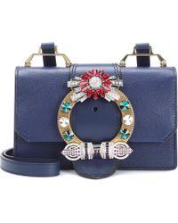 Miu Miu - Embellished Leather Shoulder Bag - Lyst