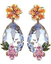 Dolce & Gabbana - Aretes colgantes de clip con cristales - Lyst