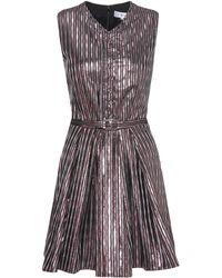 Carven - Metallic Striped Dress - Lyst