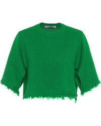 Valentino - Cropped Cashmere Sweater - Lyst