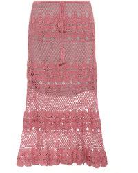 Anna Kosturova - Marianne Crocheted Cotton Skirt - Lyst