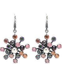 Bottega Veneta - Cubic Zirconia Silver Earrings - Lyst