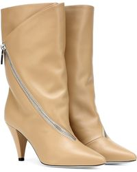 Givenchy - Zipped Leather Ankle Boots - Lyst