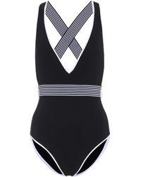 Diane von Furstenberg - Deep V-neck Swimsuit - Lyst
