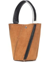 Burberry Prorsum Suede And Leather Bucket Bag in Blue - Lyst e5daf793e81b3