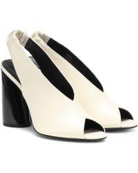 ac5844b34798 MERCEDES CASTILLO - Rowin Leather Slingback Sandals - Lyst