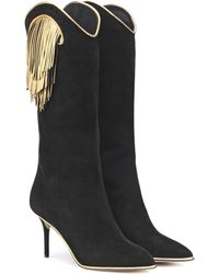 Charlotte Olympia - Stiefel Magnifico aus Veloursleder - Lyst