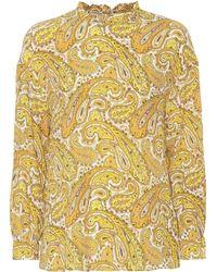 Baum und Pferdgarten - Matrika Printed Silk-blend Top - Lyst