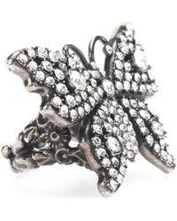 Gucci - Ring mit Kristallen - Lyst