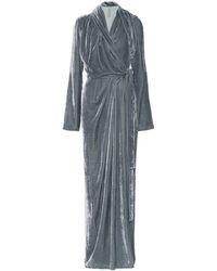 Rick Owens Velvet Wrap Gown