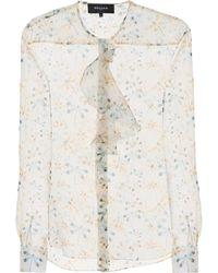 Rochas - Printed Silk Blouse - Lyst