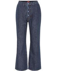 STAUD - Jeans Helena cropped a vita alta - Lyst