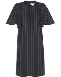 Victoria, Victoria Beckham | Pinstriped Wool Dress | Lyst
