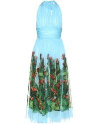 Dolce & Gabbana - Exclusive To Mytheresa. Com – Printed Silk Dress - Lyst
