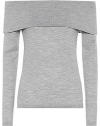 Jardin Des Orangers - Off-the-shoulder Wool Sweater - Lyst