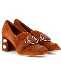 Miu Miu - Suede Court Shoes - Lyst