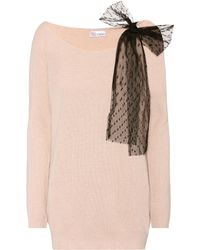 RED Valentino - Wool, Angora And Cashmere Blend Sweater - Lyst