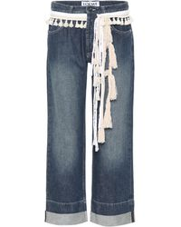 Loewe - Cropped Straight-leg Jeans - Lyst