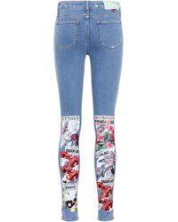 Off-White c/o Virgil Abloh - Flower Skinny Jeans - Lyst