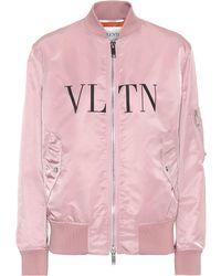 Valentino - Vltn Satin Bomber - Lyst
