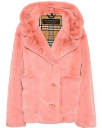 Burberry | Faux-fur Hooded Jacket | Lyst