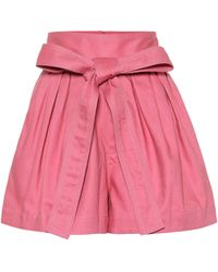 Marc Jacobs - Belted Cotton Twill Shorts - Lyst