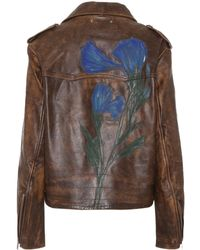 Golden Goose Deluxe Brand - Painted Leather Jacket - Lyst