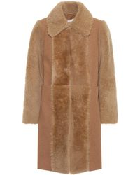 See By Chloé - Fur-trimmed Wool Coat - Lyst