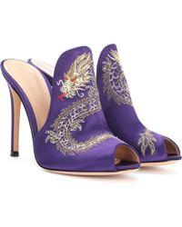 90999f912b93e9 Lyst - Giuseppe Zanotti Dragon Strappy High-heel Sandal in Black