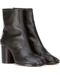 Maison Margiela - Tabi Leather Ankle Boots - Lyst