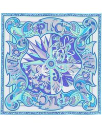 Emilio Pucci - Printed Silk Scarf - Lyst