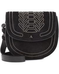Altuzarra - Ladies Black Ghianda Mini Suede Saddle Bag - Lyst