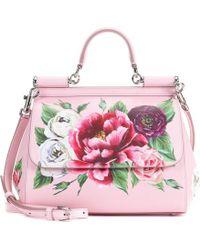 Dolce & Gabbana - Sicily Medium Leather Shoulder Bag - Lyst