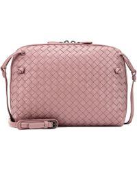 Bottega Veneta - Nodini Intrecciato Leather Crossbody Bag - Lyst 02dbb8dbde4f4