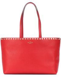 Valentino - Rockstud Leather Shopper - Lyst