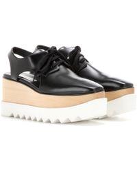 Stella McCartney - Elyse Platform Cut-out Derby Shoes - Lyst